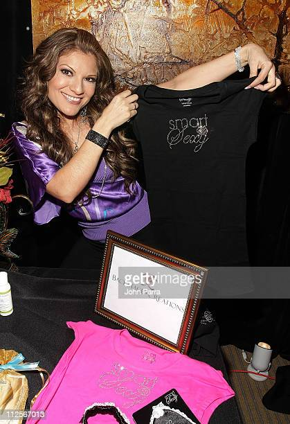 Singer Diana Reyes attends the Backstage Creations Celebrity Retreat at the 2008 Billboard Latin Music Awards at the Seminole Hard Rock Hotel and...