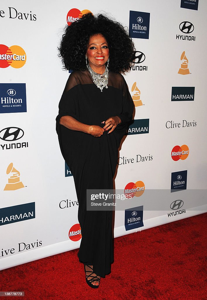 Singer <a gi-track='captionPersonalityLinkClicked' href=/galleries/search?phrase=Diana+Ross&family=editorial&specificpeople=202836 ng-click='$event.stopPropagation()'>Diana Ross</a> arrives at Clive Davis and The Recording Academy's 2012 Pre-GRAMMY Gala and Salute to Industry Icons Honoring Richard Branson at The Beverly Hilton hotel on February 11, 2012 in Beverly Hills, California.