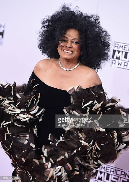 Singer Diana Ross arrives at the 2014 American Music Awards at Nokia Theatre LA Live on November 23 2014 in Los Angeles California