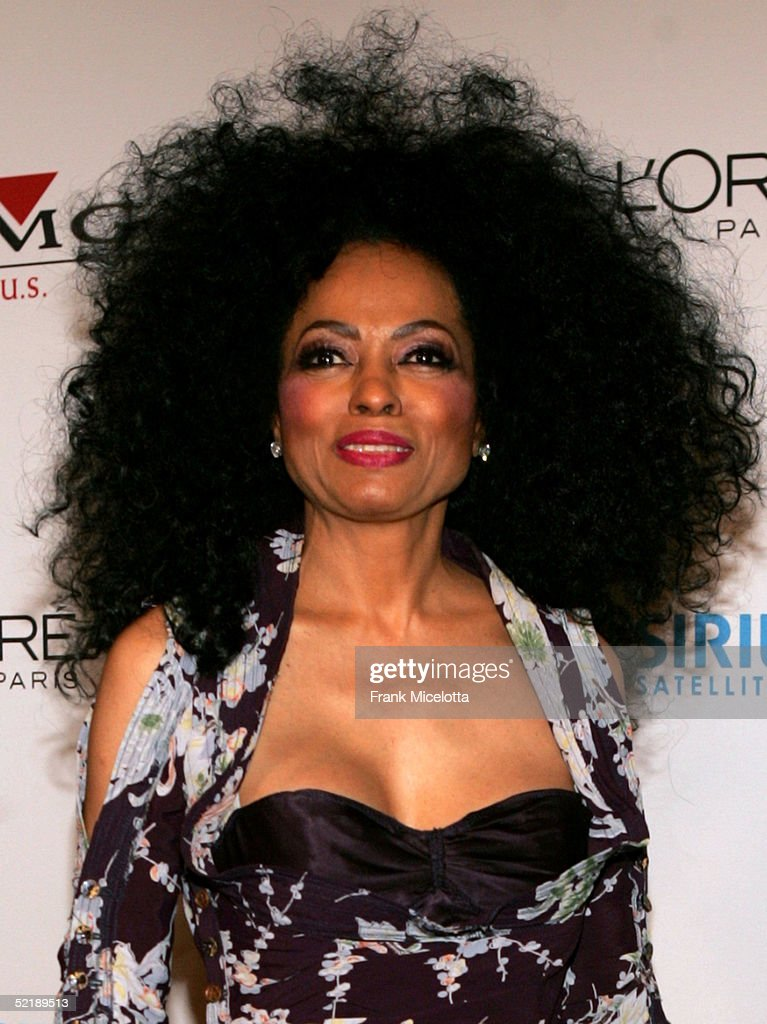 Singer Diana Ross arrives at the Clive Davis Annual Grammy Party at the Beverly Hills Hotel on February 12, 2005 in Beverly Hills, California.