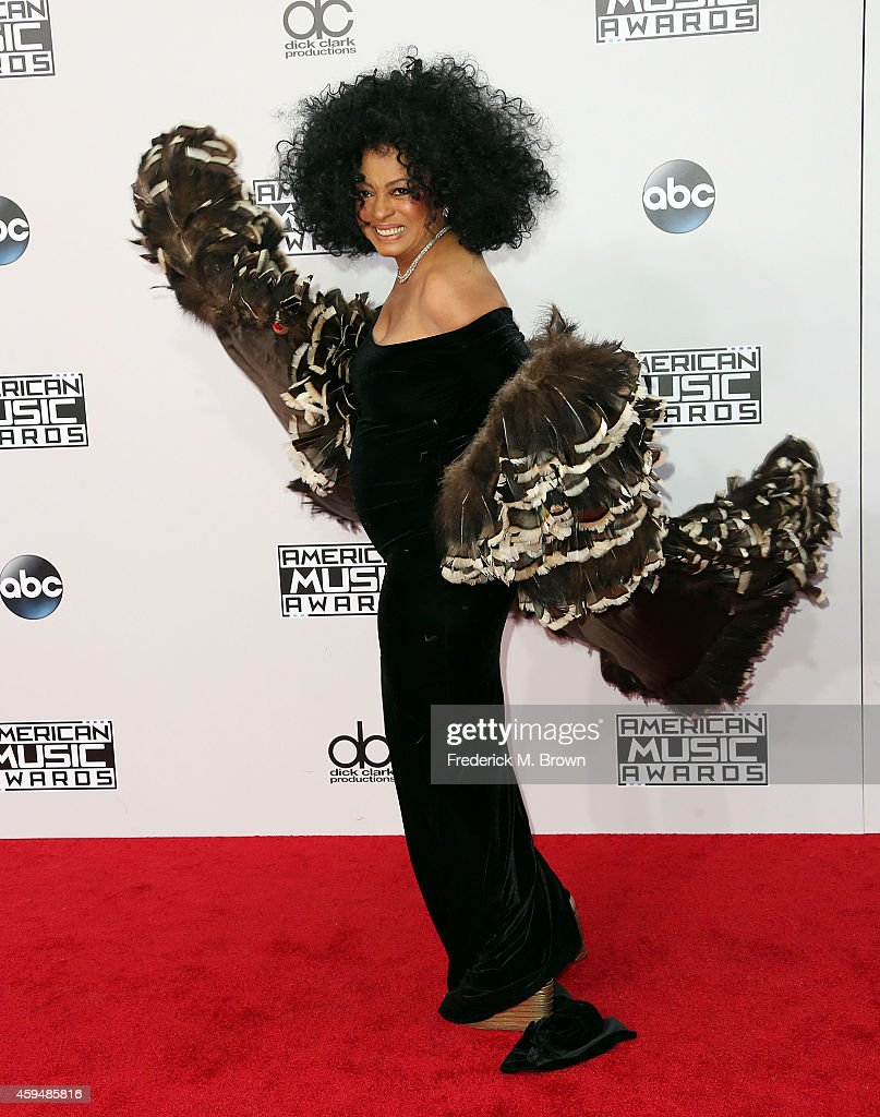 Singer <a gi-track='captionPersonalityLinkClicked' href=/galleries/search?phrase=Diana+Ross&family=editorial&specificpeople=202836 ng-click='$event.stopPropagation()'>Diana Ross</a> attends the 42nd Annual American Music Awards at the Nokia Theatre L.A. Live on November 23, 2014 in Los Angeles, California.