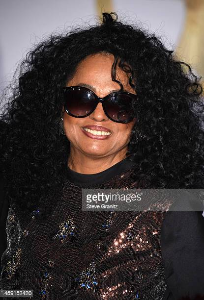 Singer Diana Ross attends the premiere of 'The Hunger Games Mockingjay Part 1' at Nokia Theatre LA Live on November 17 2014 in Los Angeles California