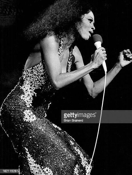 SEP 5 1983 OCT 7 1983 MAY 3 1985 Singer Diana Ross belts out song before McNichols Sports Arena crowd Thursday night Page 1D