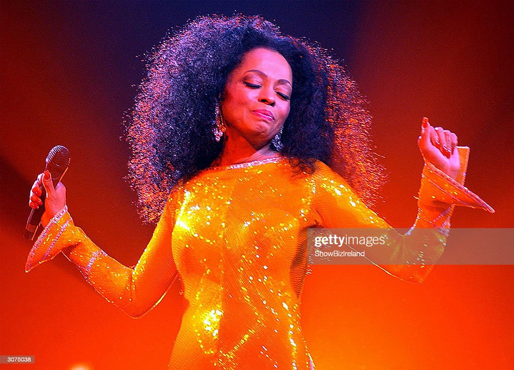 Singer Diana Ross performs at The Point Theatre March 10 2004 in Dublin, Ireland.