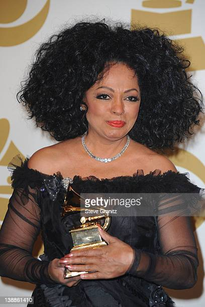 Singer Diana Ross poses in the Media Center during the 54th Annual GRAMMY Awards at Staples Center on February 12 2012 in Los Angeles California
