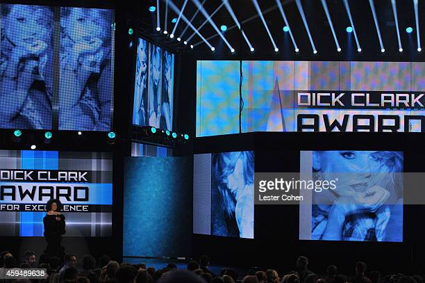 Singer Diana Ross speaks onstage at the 2014 American Music Awards at Nokia Theatre LA Live on November 23 2014 in Los Angeles California