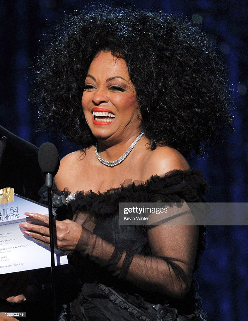 Singer <a gi-track='captionPersonalityLinkClicked' href=/galleries/search?phrase=Diana+Ross&family=editorial&specificpeople=202836 ng-click='$event.stopPropagation()'>Diana Ross</a> speaks onstage at the 54th Annual GRAMMY Awards held at Staples Center on February 12, 2012 in Los Angeles, California.