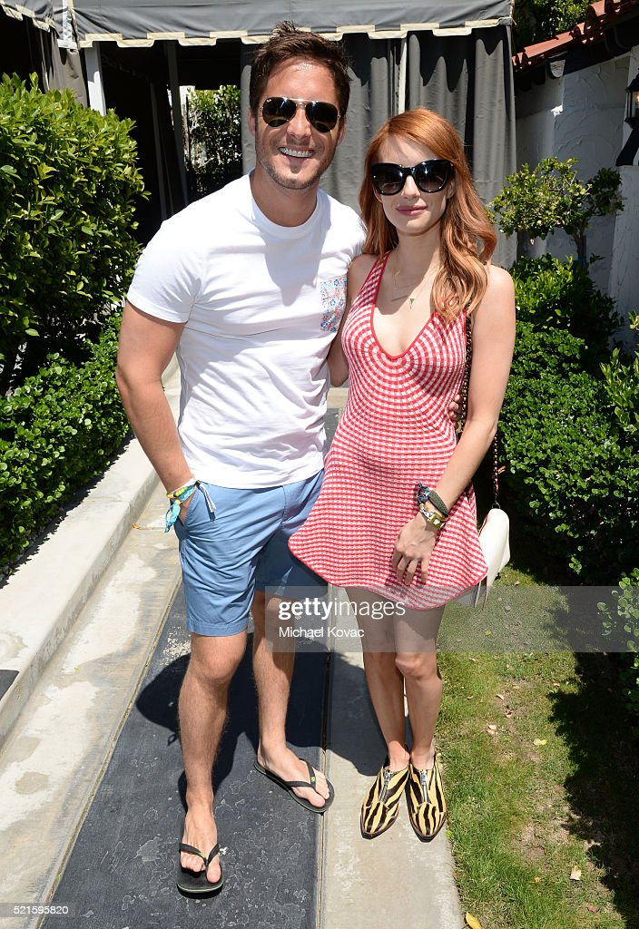 Singer Diego Boneta and actress Emma Roberts attends POPSUGAR and the Council of Fashion Designers of America brunch with designer Jonathan Simkhai...