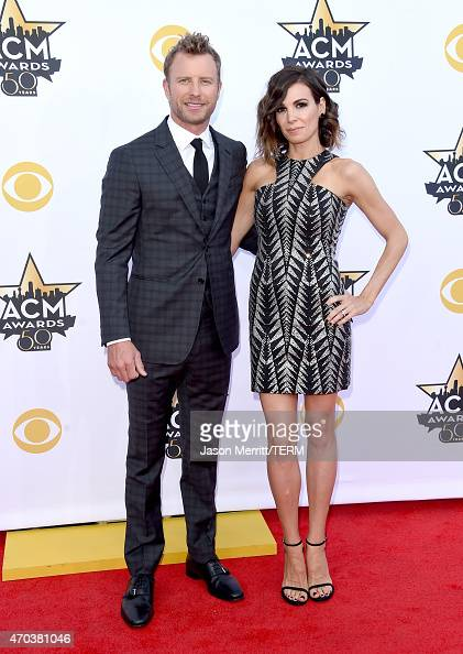 Singer Dierks Bentley and Cassidy Black attend the 50th Academy of Country Music Awards at ATT Stadium on April 19 2015 in Arlington Texas