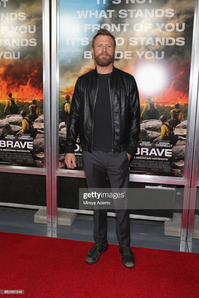 Singer Dierks Bentley attends 'Only The Brave' New York screening at iPic Theater on October 17, 2017 in New York City.