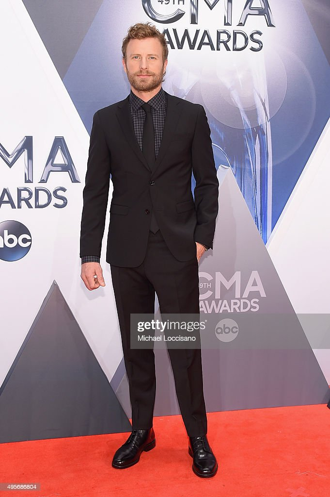 Singer Dierks Bentley attends the 49th annual CMA Awards at the Bridgestone Arena on November 4 2015 in Nashville Tennessee