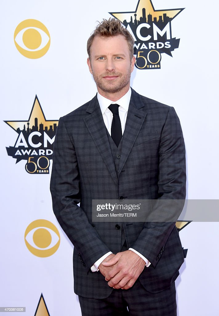 Singer <a gi-track='captionPersonalityLinkClicked' href=/galleries/search?phrase=Dierks+Bentley&family=editorial&specificpeople=243007 ng-click='$event.stopPropagation()'>Dierks Bentley</a> attends the 50th Academy of Country Music Awards at AT&T Stadium on April 19, 2015 in Arlington, Texas.