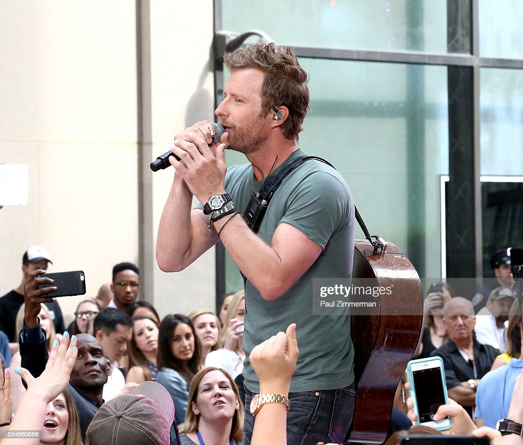 Singer <a gi-track='captionPersonalityLinkClicked' href=/galleries/search?phrase=Dierks+Bentley&family=editorial&specificpeople=243007 ng-click='$event.stopPropagation()'>Dierks Bentley</a> <a gi-track='captionPersonalityLinkClicked' href=/galleries/search?phrase=Dierks+Bentley&family=editorial&specificpeople=243007 ng-click='$event.stopPropagation()'>Dierks Bentley</a> Performs On NBC's 'Today' at Rockefeller Plaza on May 27, 2016 in New York City.