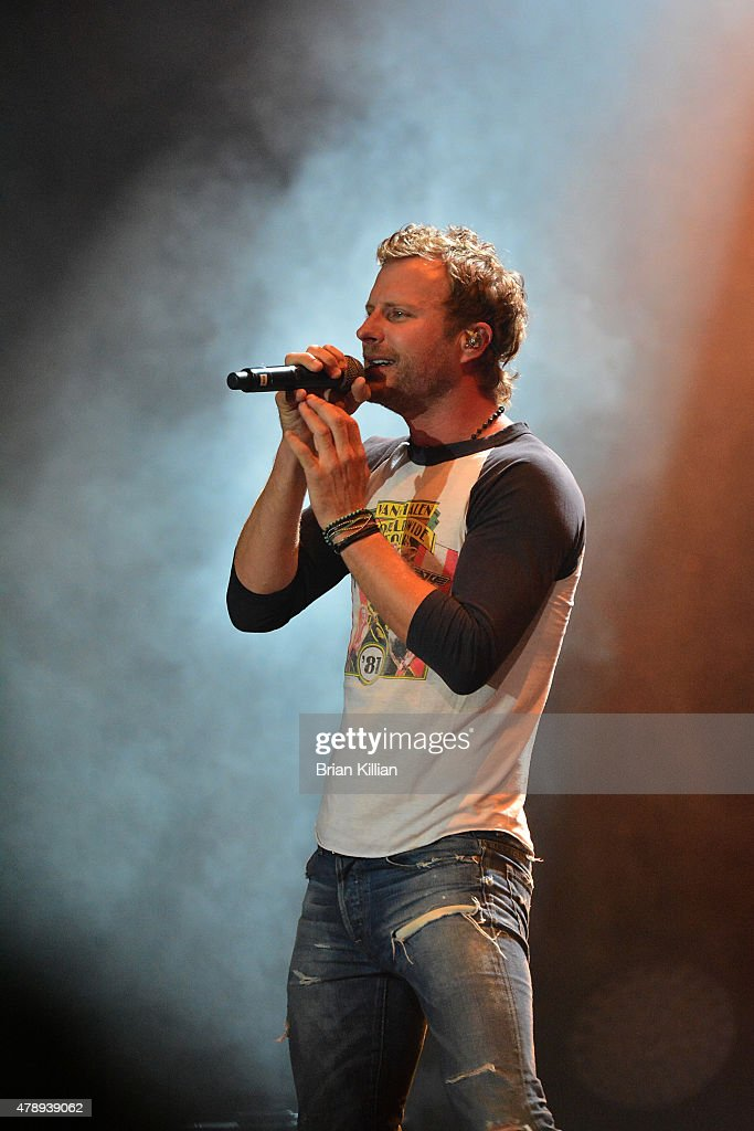 Singer Dierks Bentley performs at the Susquehanna Bank Center on June 28 2015 in Camden New Jersey