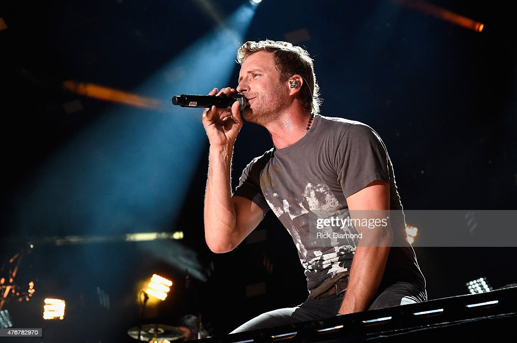 Singer Dierks Bentley performs onstage during the 2015 CMA Festival on June 11 2015 in Nashville Tennessee