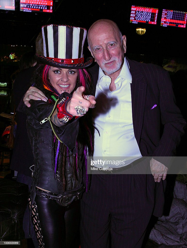 Singer Dilana Robichaux (L) and Dominic Chianese attend Cherry Lane Music Publishing's 50th Anniversary celebration at Brooklyn Bowl on May 19, 2010 in the Brooklyn borough of New York City.