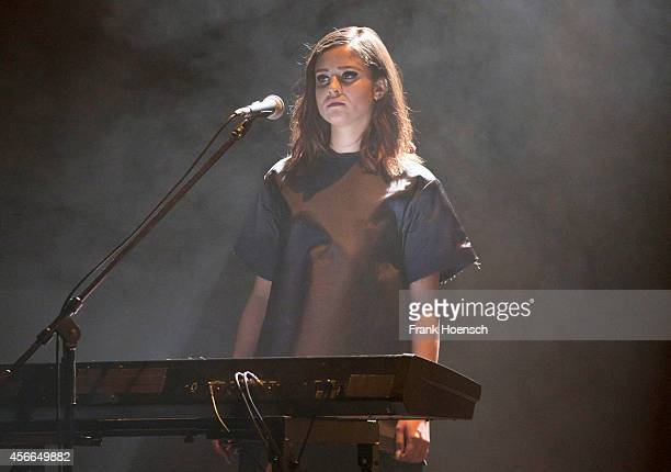 Singer Dillon performs live during a concert at the Volksbuehne on October 4 2014 in Berlin Germany