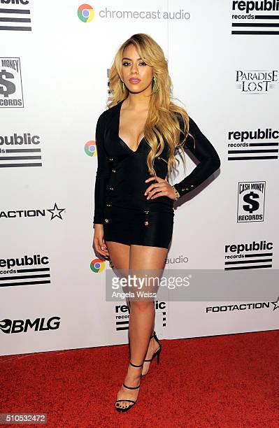 Singer Dinah Jane Hansen attends the Republic Records Grammy Celebration presented by Chromecast Audio at Hyde Sunset Kitchen Cocktail on February 15...