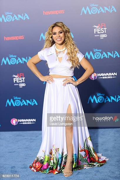 Singer DinahJane Hansen arrives at the AFI FEST 2016 presented by Audi premiere of Disney's 'Moana' held at the El Capitan Theatre on November 14...