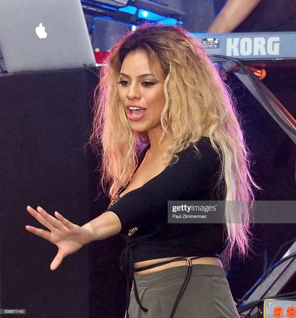 Singer Dinah-Jane Hansen of band Fifth Harmony performs On NBC's 'Today' at Rockefeller Plaza on May 30, 2016 in New York City.