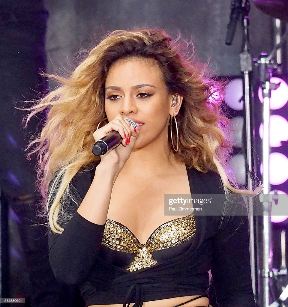 Singer Dinah-Jane Hansen of band Fifth Harmony performs on On NBC's 'Today' Rockefeller Plaza on May 30, 2016 in New York City.