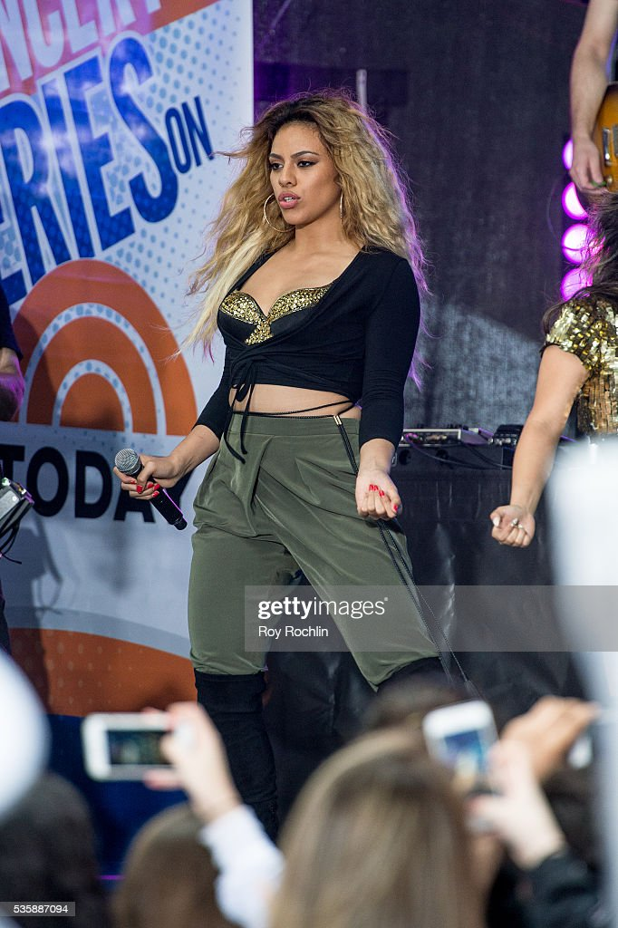 Singer Dinah-Jane Hansen of Fifth Harmony Performs On NBC's 'Today' at Rockefeller Plaza on May 30, 2016 in New York City.