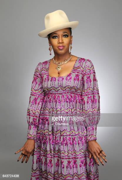 Singer Dionne Farris poses for a portrait for BET's 2017 American Black Film Festival Honors Awards at The Beverly Hilton Hotel on February 17 2017...