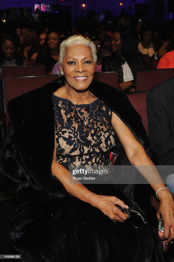 Singer <a gi-track='captionPersonalityLinkClicked' href=/galleries/search?phrase=Dionne+Warwick&family=editorial&specificpeople=213111 ng-click='$event.stopPropagation()'>Dionne Warwick</a> attends BET's Black Girls Rock 2012 at Paradise Theater on October 13, 2012 in New York City.