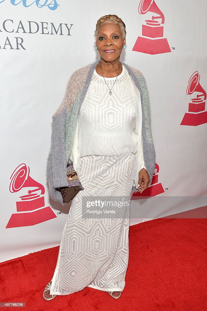 Singer <a gi-track='captionPersonalityLinkClicked' href=/galleries/search?phrase=Dionne+Warwick&family=editorial&specificpeople=213111 ng-click='$event.stopPropagation()'>Dionne Warwick</a> attends the 2015 Latin GRAMMY Person of the Year honoring Roberto Carlos at the Mandalay Bay Events Center on November 18, 2015 in Las Vegas, Nevada.