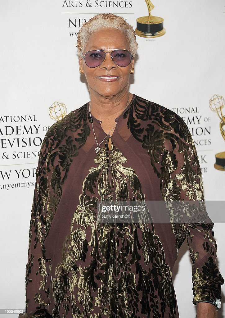 Singer <a gi-track='captionPersonalityLinkClicked' href=/galleries/search?phrase=Dionne+Warwick&family=editorial&specificpeople=213111 ng-click='$event.stopPropagation()'>Dionne Warwick</a> attends the 56th Annual New York Emmy Awards at Marriott Marquis Times Square on April 14, 2013 in New York City.