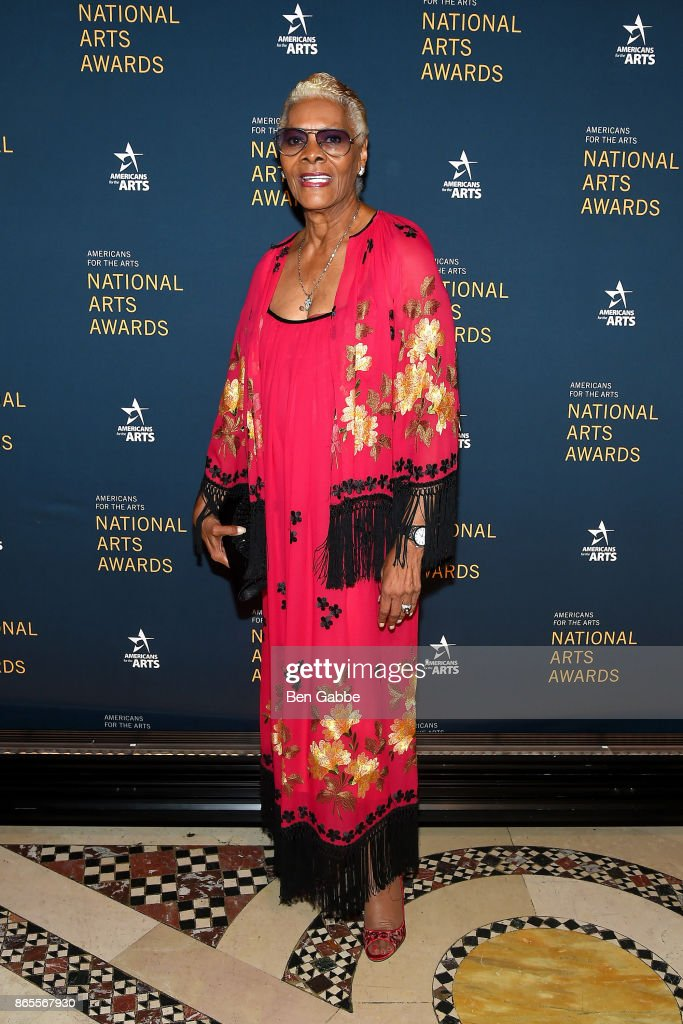 Singer Dionne Warwick attends the National Arts Awards at Cipriani 42nd Street on October 23, 2017 in New York City.