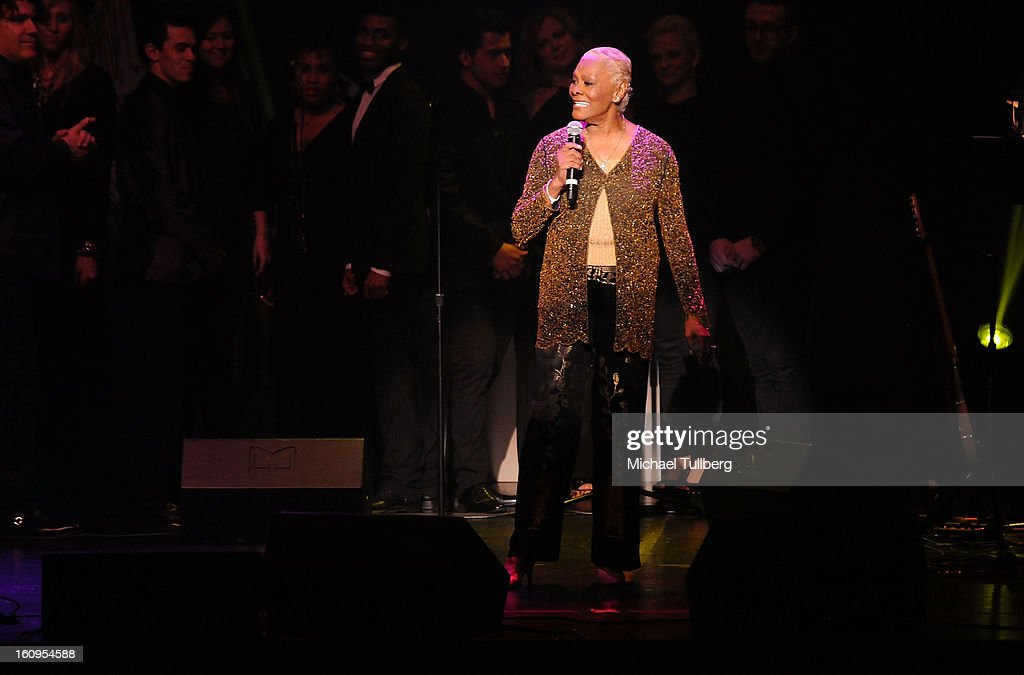 Singer Dionne Warwick performs live at the 15th Annual GRAMMY Foundation Music Preservation Project's 'Play It Forward: A Celebration Of Music's Evolution And Influencers' at Saban Theatre on February 7, 2013 in Beverly Hills, California.