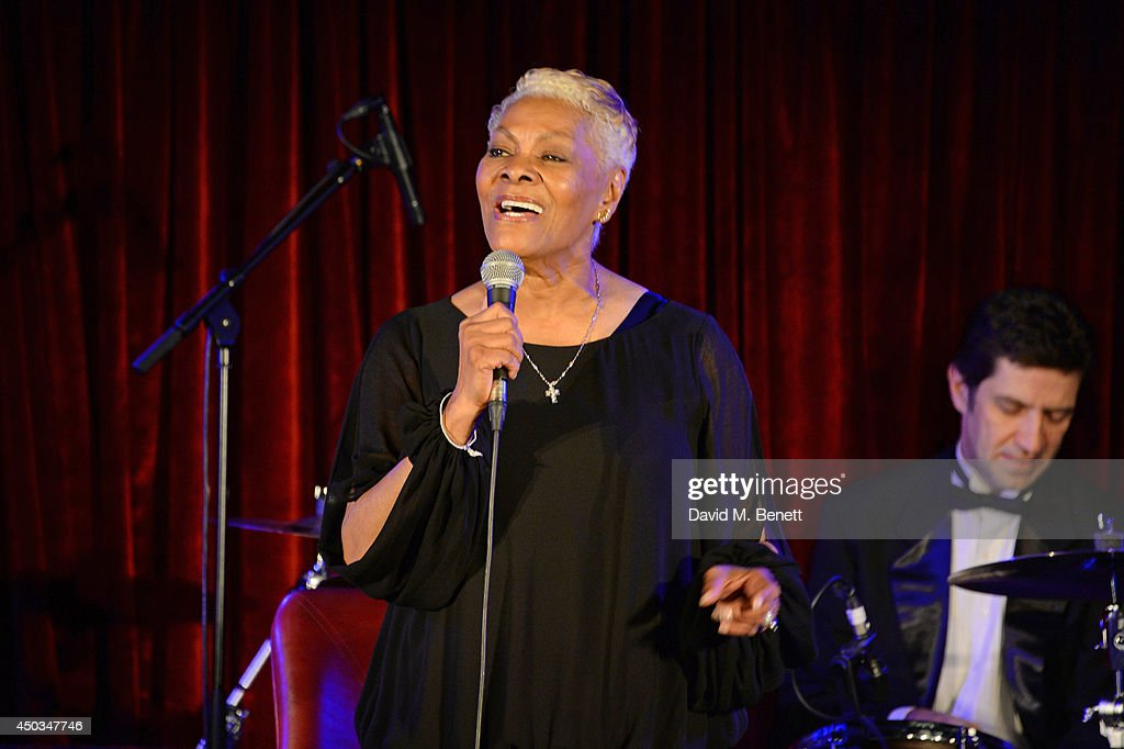 Singer Dionne Warwick performs live at The Arts Club on June 9 2014 in London England
