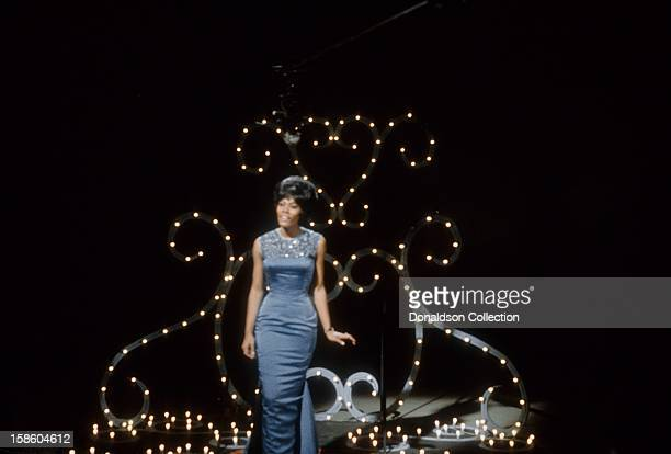 Singer Dionne Warwick performs on the NBC TV music show 'Hullabaloo' in March 1965 in New York City New York