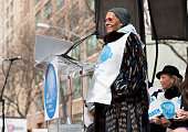 Singer Dionne Warwick speaks at 'March to End Violence Against Women' hosted by UN Women For Peace Association on March 5 2016 in New York City