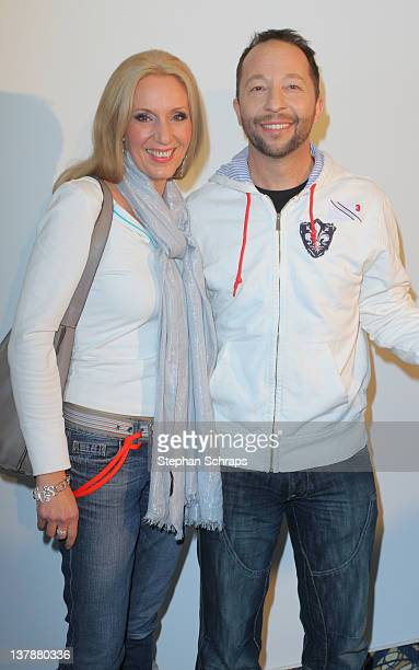 Singer DJ Bobo and wife Nancy Baumann attend the aftershowparty at the MercureHotel after the MDR 'Winterfest der fliegenden Stars' on January 28...