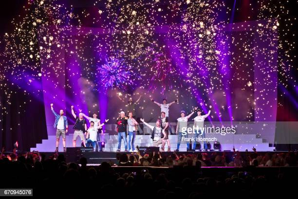 Singer DJ Oetzi Florian Silbereisen and Members of DDC and Voxxclub perform live during the show 'Das grosse Schlagerfest' at the MercedesBenz Arena...