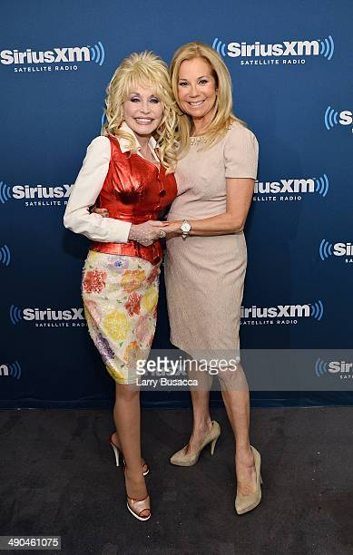 Singer Dolly Parton and Kathie Lee Gifford at SiriusXM Town Hall with Dolly Parton at the SiriusXM Studios on May 14 2014 in New York City