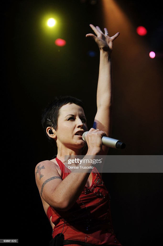 Singer <a gi-track='captionPersonalityLinkClicked' href=/galleries/search?phrase=Dolores+O%27Riordan&family=editorial&specificpeople=171344 ng-click='$event.stopPropagation()'>Dolores O'Riordan</a> of the Cranberries performs at the Pearl Theatre at the Palms Hotel and Casino on December 3, 2009 in Las Vegas, Nevada.