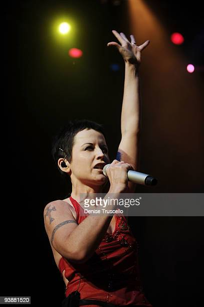 Singer Dolores O'Riordan of the Cranberries performs at the Pearl Theatre at the Palms Hotel and Casino on December 3 2009 in Las Vegas Nevada