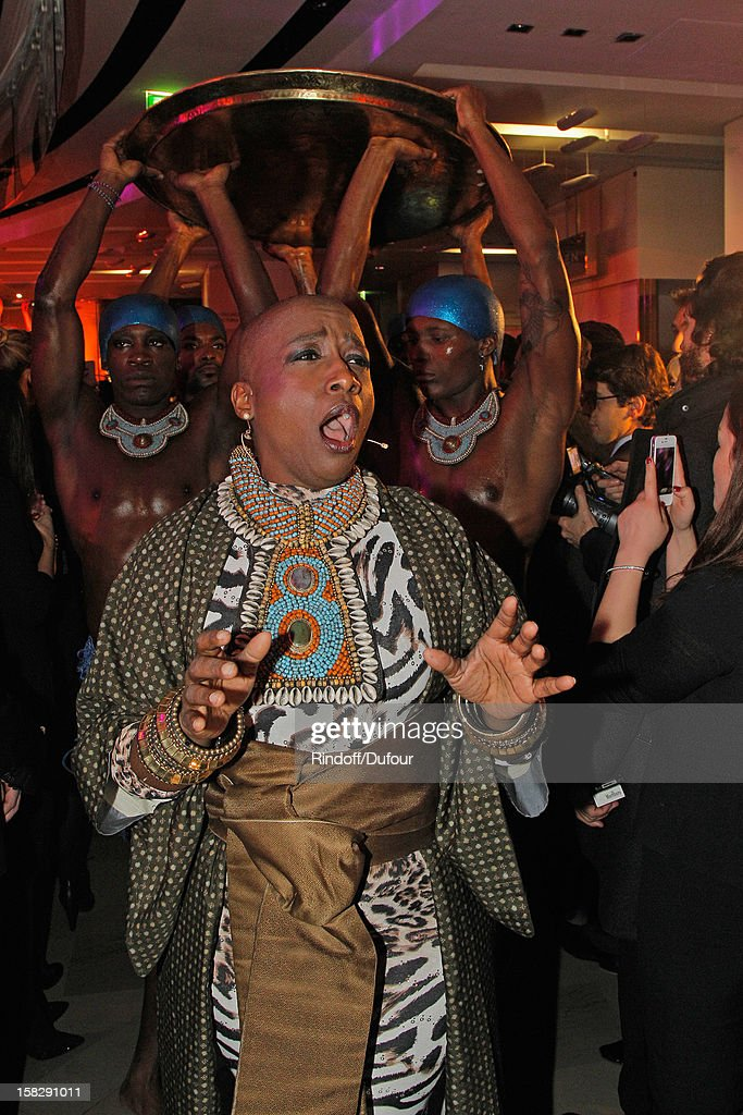 Singer Dominique Magloire performs live during the Galeries Lafayette 100th Anniversary Bal on December 12, 2012 in Paris, France.