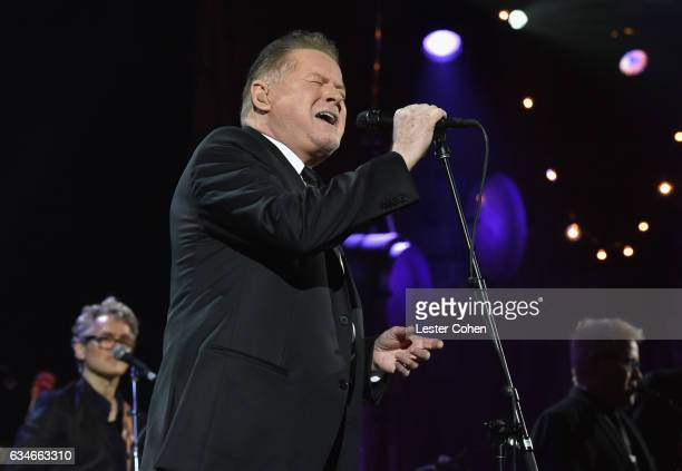 Singer Don Henley performs onstage during MusiCares Person of the Year honoring Tom Petty at the Los Angeles Convention Center on February 10 2017 in...