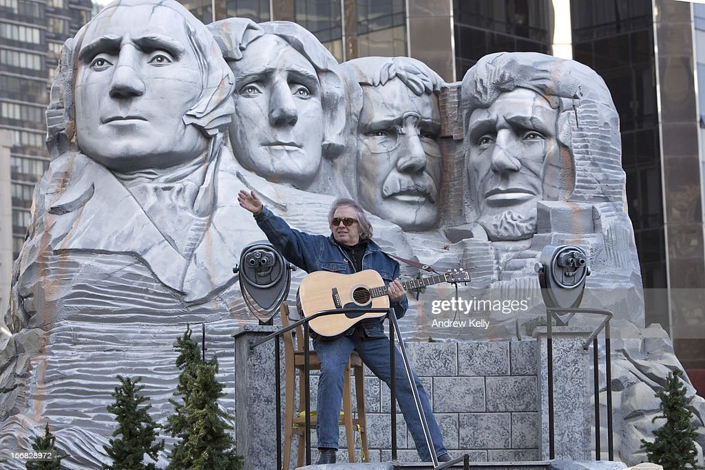 Singer Don McLean makes his way through Columbus Circle during the 86th Annual Macy's Thanksgiving Day Parade on November 22, 2012 in New York. Macy's donated tickets and transportation to this year's Thanksgiving Day Parade to 5,000 people from neighborhoods hardest hit by Superstorm Sandy.