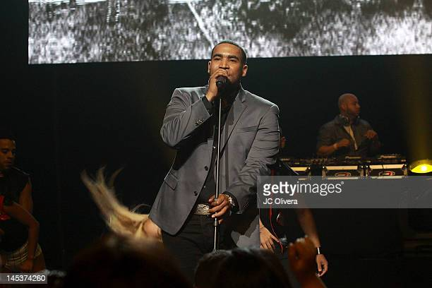 Singer Don Omar performs on stage at the Nokia Theater LA Live during the 2nd day of 'LA En Vivo Block Party' on May 27 2012 in Los Angeles California