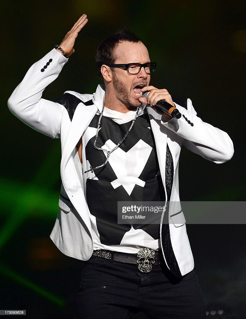 Singer Donnie Wahlberg of New Kids on the Block performs at the Mandalay Bay Events Center during The Package Tour on July 6, 2013 in Las Vegas, Nevada.