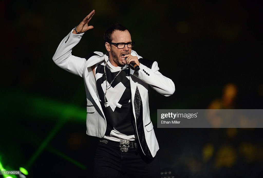 Singer <a gi-track='captionPersonalityLinkClicked' href=/galleries/search?phrase=Donnie+Wahlberg&family=editorial&specificpeople=220537 ng-click='$event.stopPropagation()'>Donnie Wahlberg</a> of New Kids on the Block performs at the Mandalay Bay Events Center during The Package Tour on July 6, 2013 in Las Vegas, Nevada.
