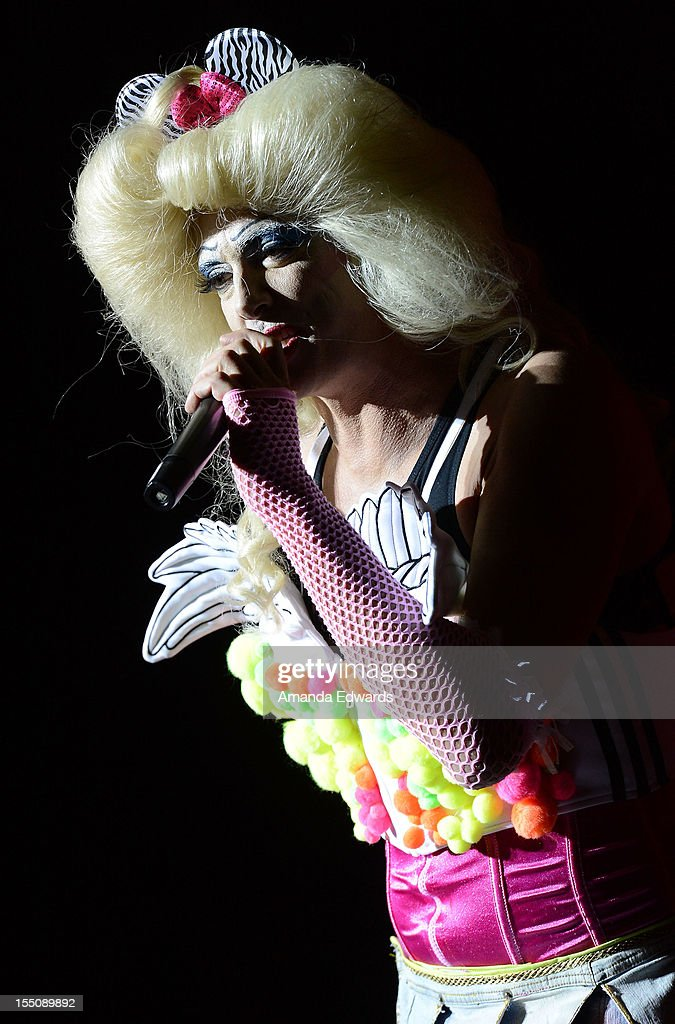 Singer Donovan Leitch and the cast of Hedwig and The Angry Inch perform onstage at The City of West Hollywood's 2012 Halloween Carnaval on October 31, 2012 in West Hollywood, California.