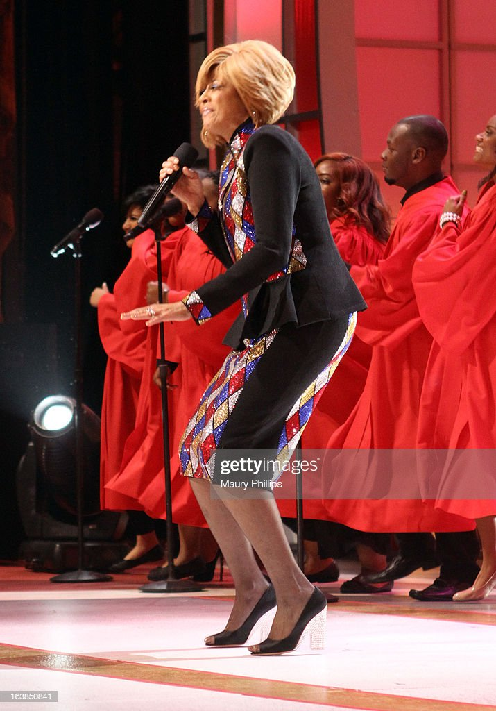 Singer Dorinda Clark Cole performs onstage during the BET Celebration of Gospel 2013 at Orpheum Theatre on March 16, 2013 in Los Angeles, California.