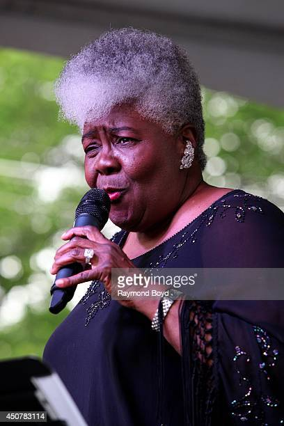 Singer Dorothy Moore performs on the Jackson Mississippi Rhythm and Blues Stage during the 31st Annual Chicago Blues Festival on June 15 2014 in...