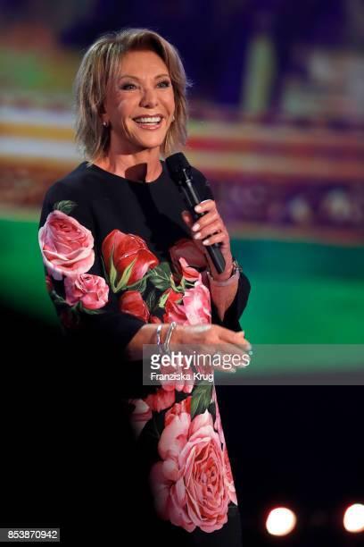 Singer Dorthe Kollo performs at the TV Show 'Stefanie Hertel Meine Stars' on September 25 2017 in Zwickau Germany